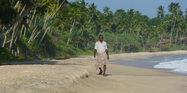 Kingdom Ayurveda Resort - Spiaggia di sabbia bianca di Dickwella, Sri Lanka